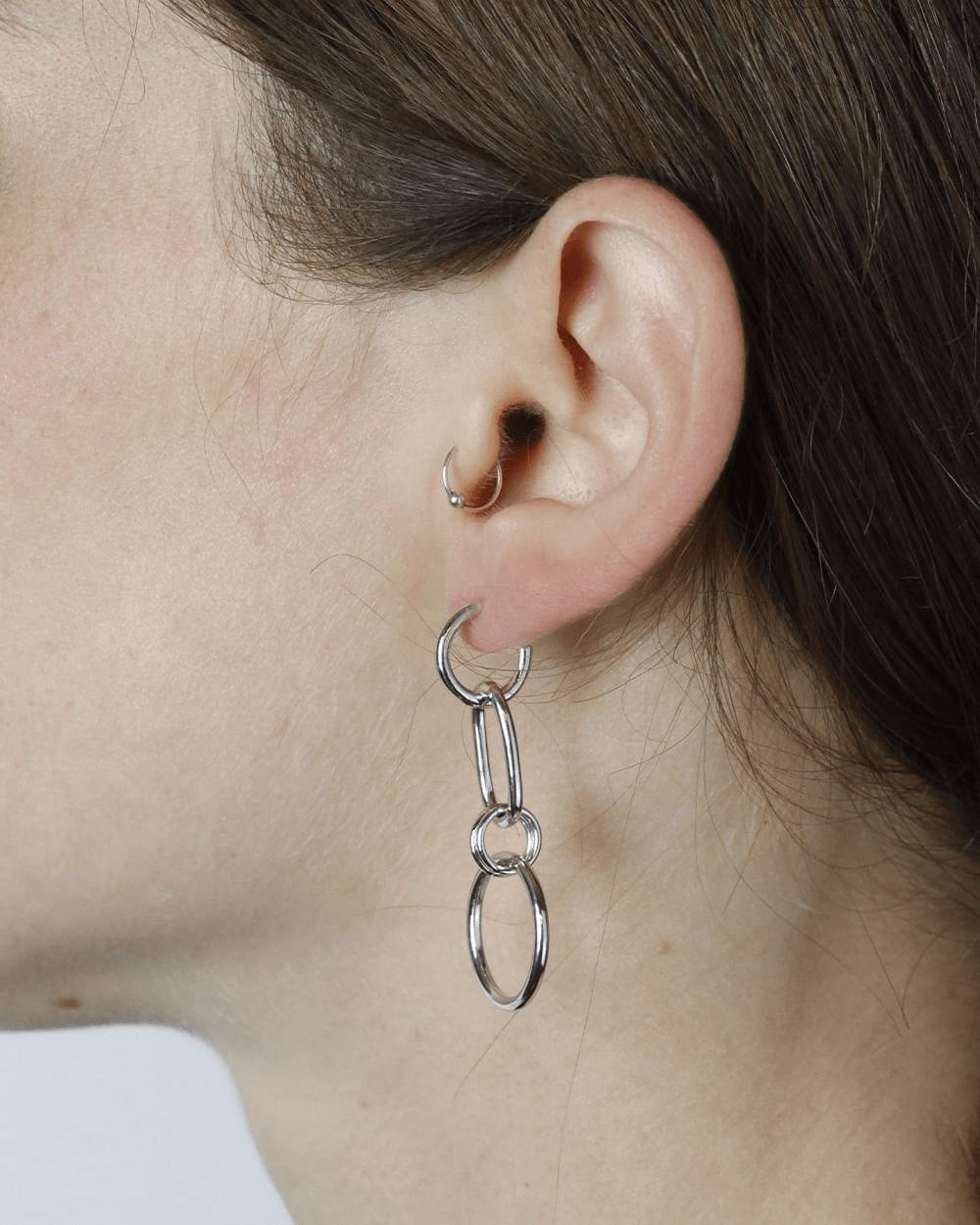 Earrings SILVER GAMMA EARRINGS NOVE25