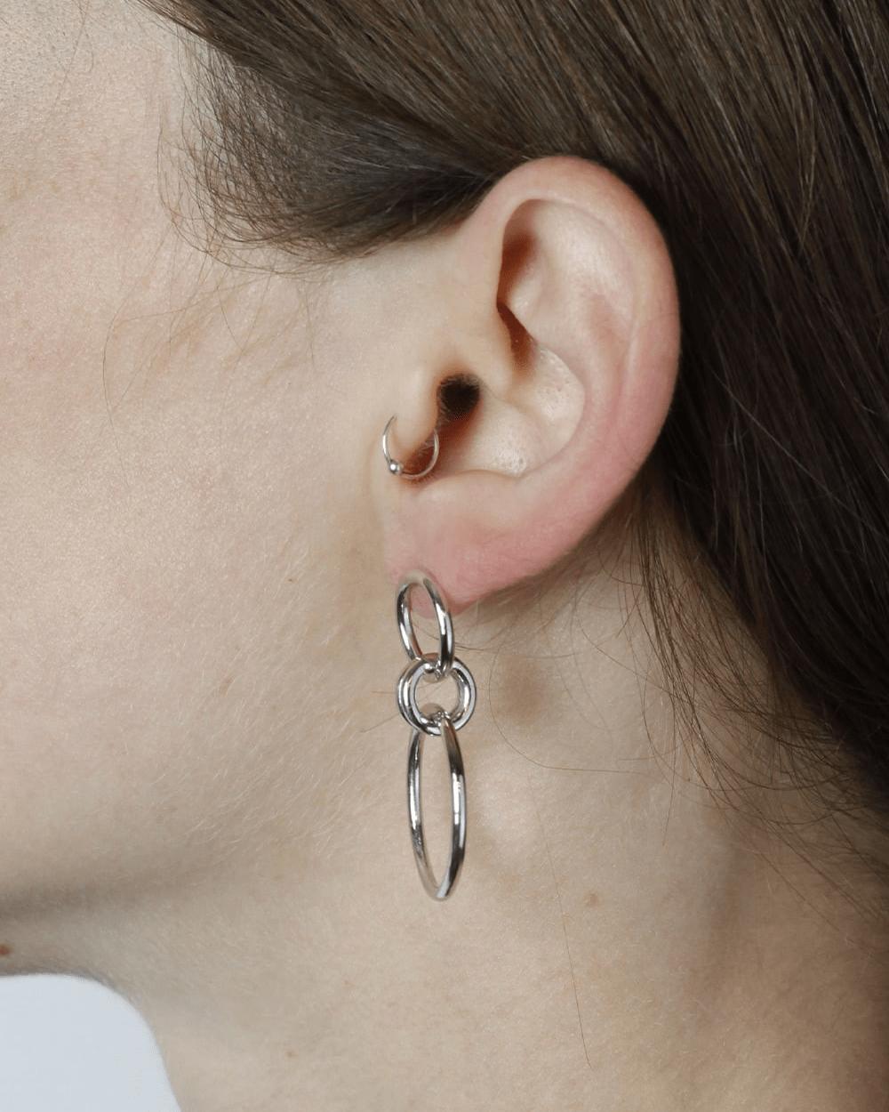 Earrings SILVER OMICRO EARRINGS NOVE25