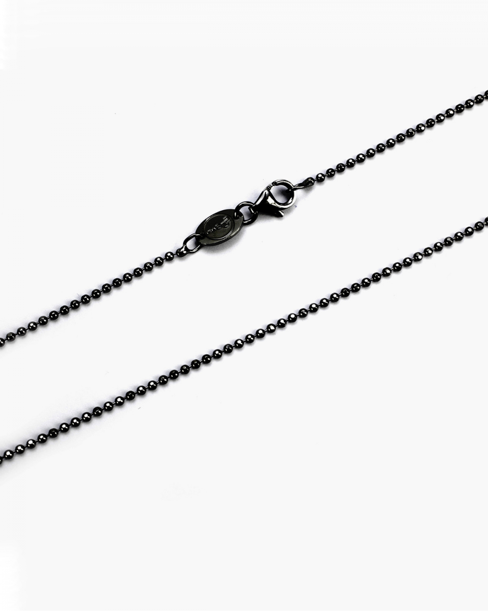 Necklaces DIAMOND AND RUTHENIUM BALL CHAIN NECKLACE 150 NOVE25