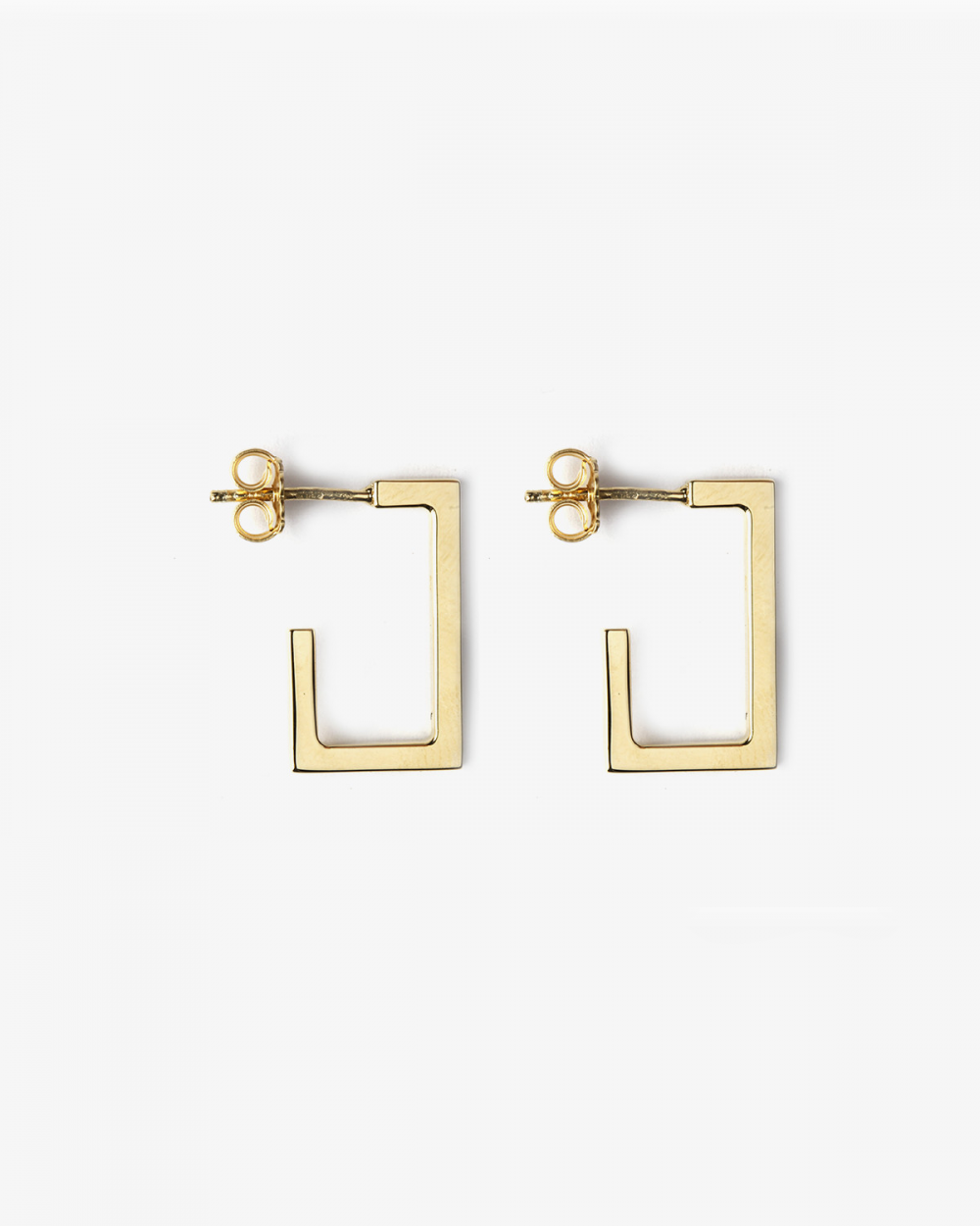 Earrings YELLOW GOLD RECTANGULAR PLATE SMALL EARRINGS NOVE25