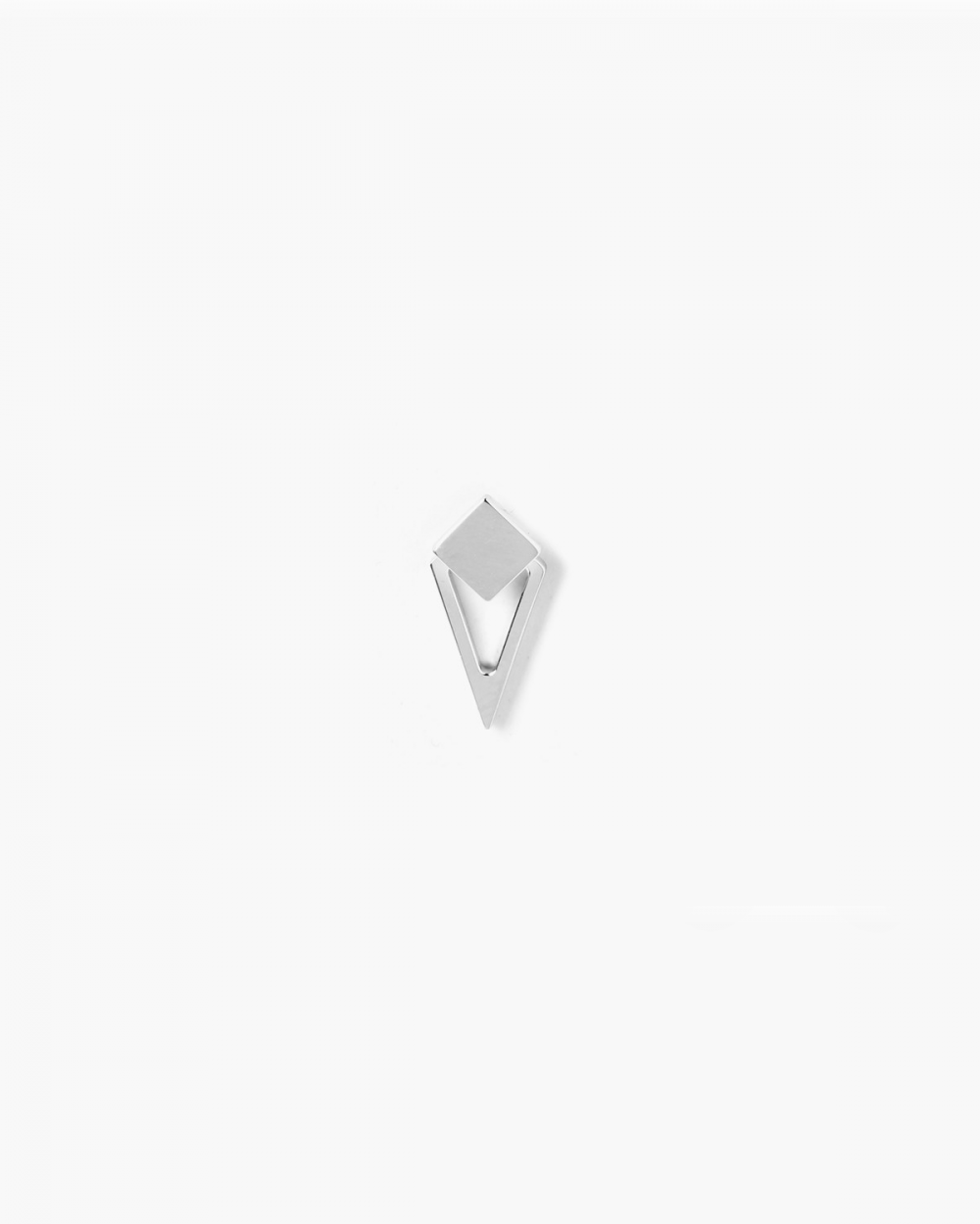 Earrings SILVER SQUARE & RHOMBOID SINGLE LOBE EARRING NOVE25