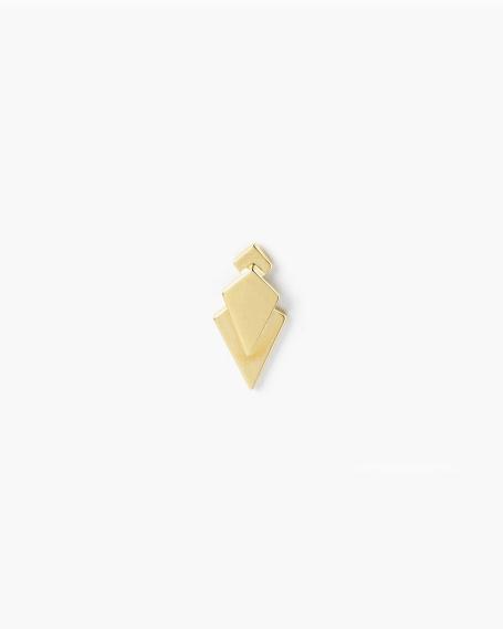 YELLOW GOLD PRISM SINGLE LOBE EARRING