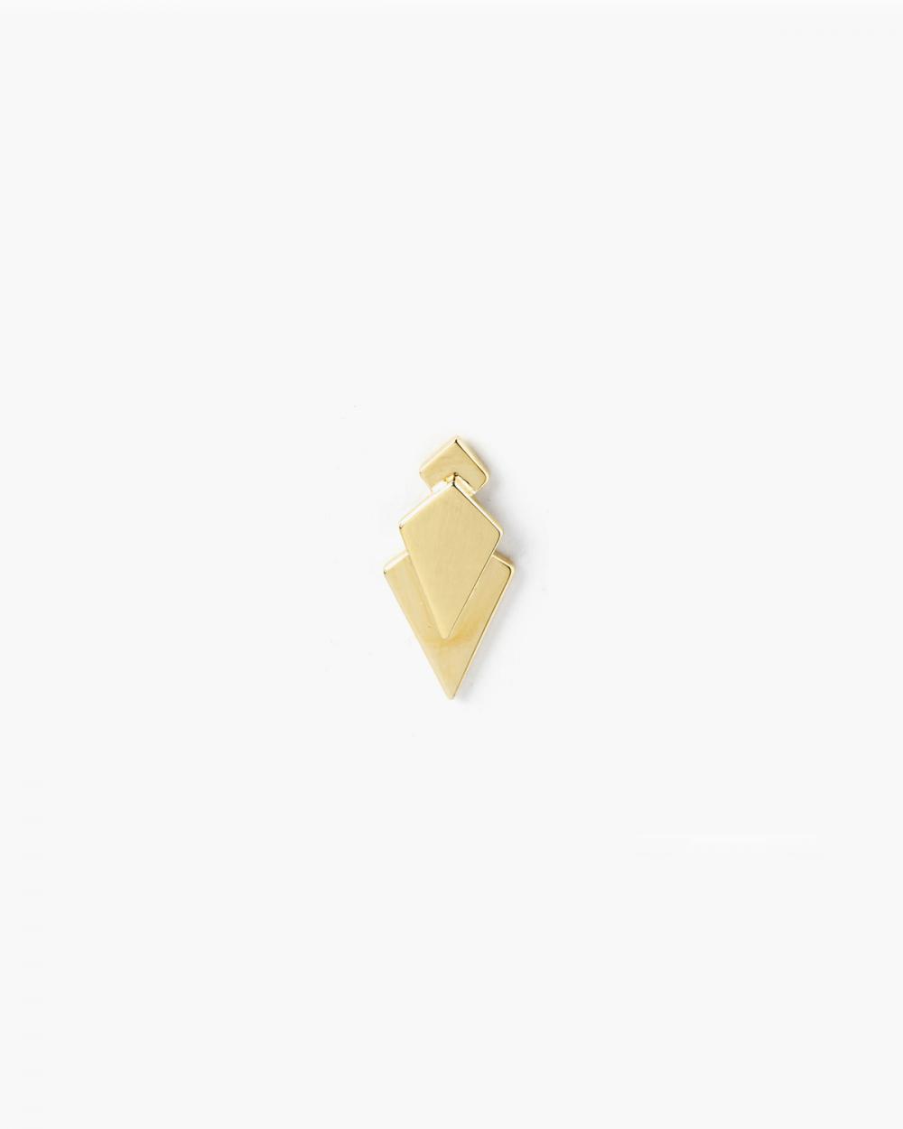 Earrings YELLOW GOLD PRISM SINGLE LOBE EARRING NOVE25