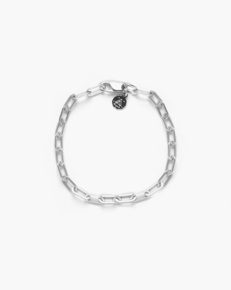 SMALL OVAL BOX CHAIN BRACELET