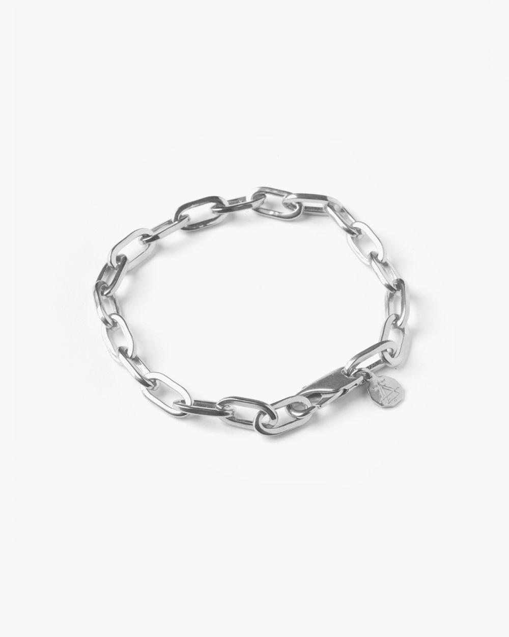 Bracelets SILVER MEDIUM OVAL BOX CHAIN BRACELET NOVE25