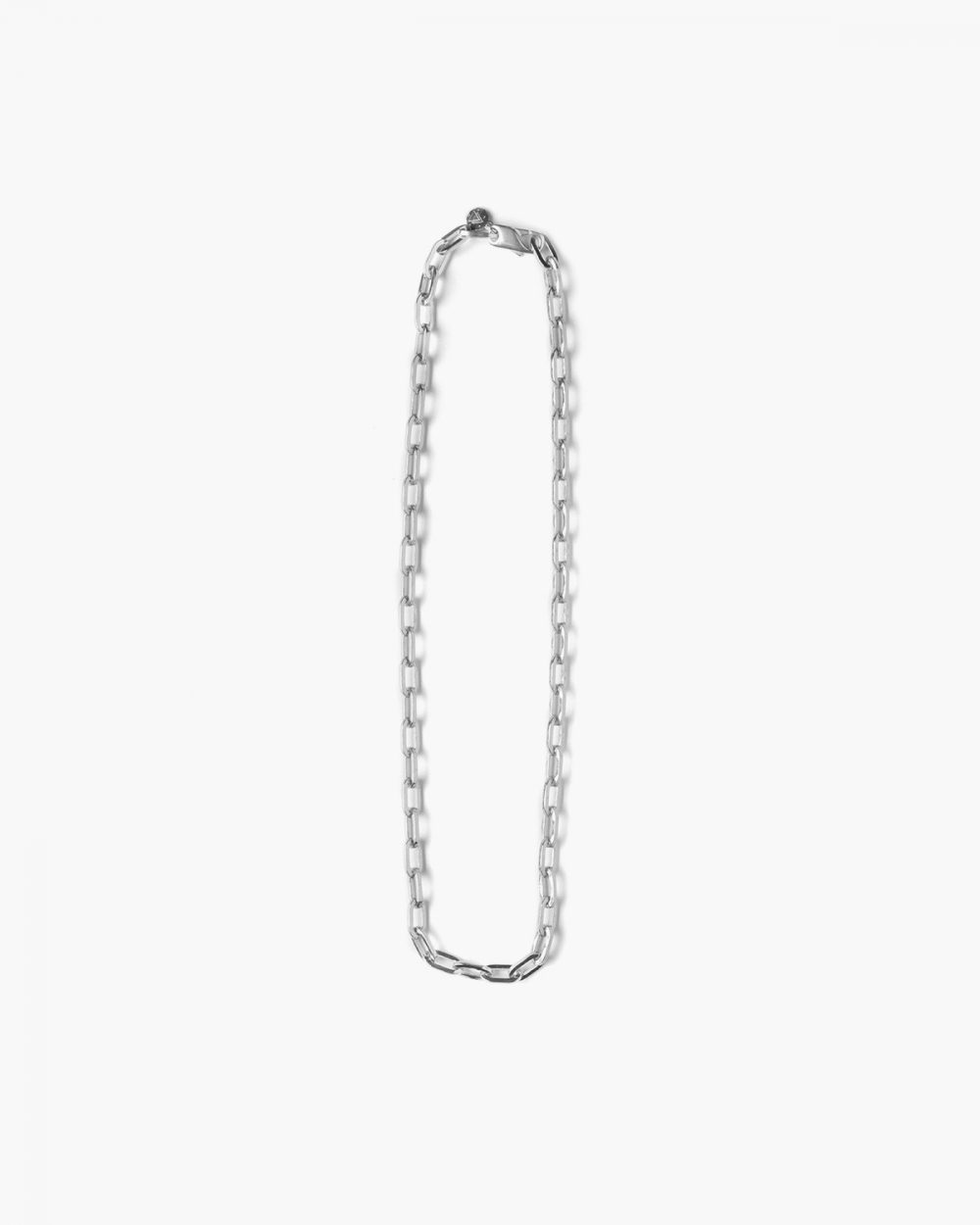 Necklaces SILVER MEDIUM OVAL BOX CHAIN NECKLACE NOVE25