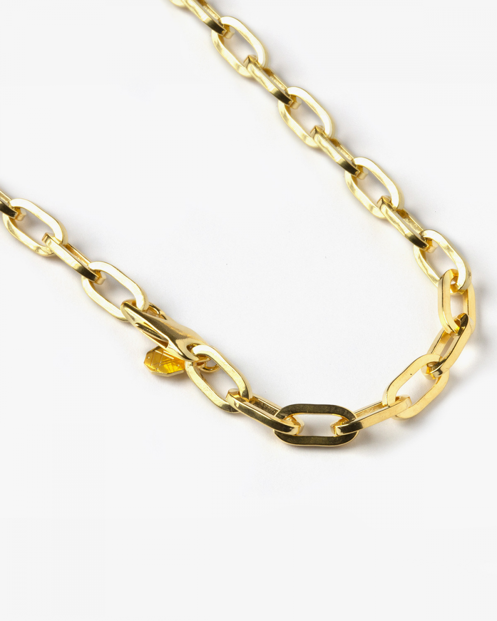 Necklaces YELLOW GOLD MEDIUM OVAL BOX CHAIN NECKLACE NOVE25