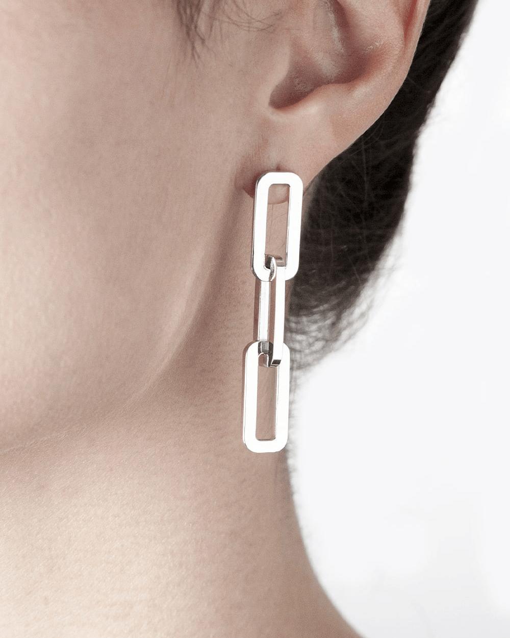 Earrings LONG BOX CHAIN SINGLE EARRING NOVE25
