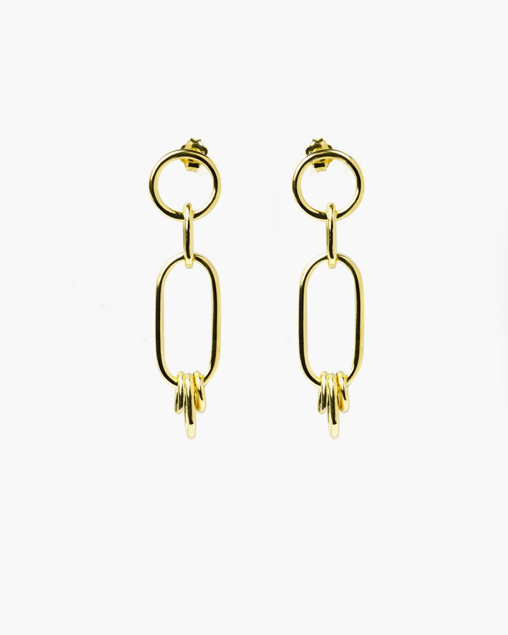 Earrings YELLOW GOLD LAMBDA EARRINGS NOVE25