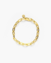 yellow gold medium oval box chain bracelet