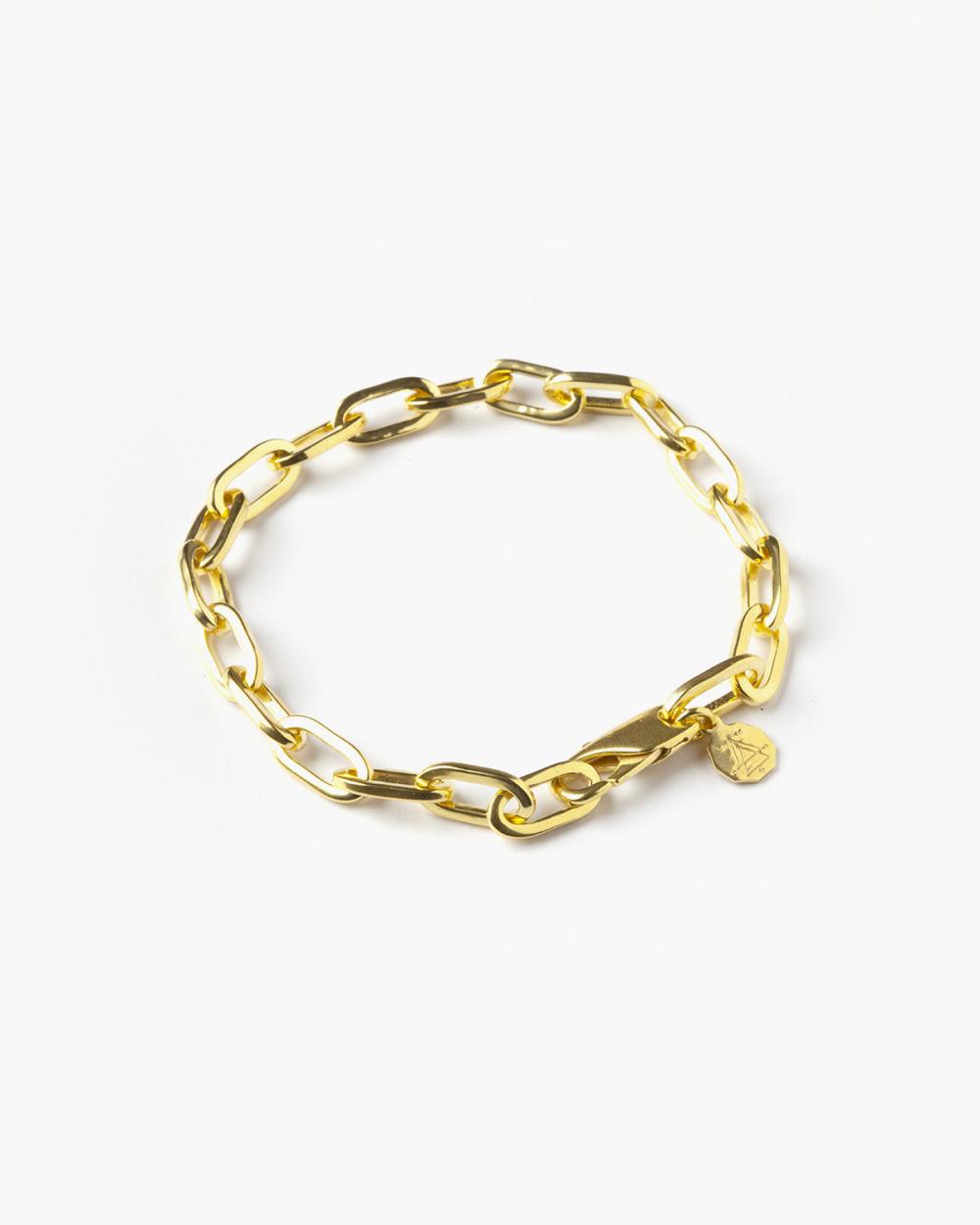 Bracelets YELLOW GOLD MEDIUM OVAL BOX CHAIN BRACELET NOVE25