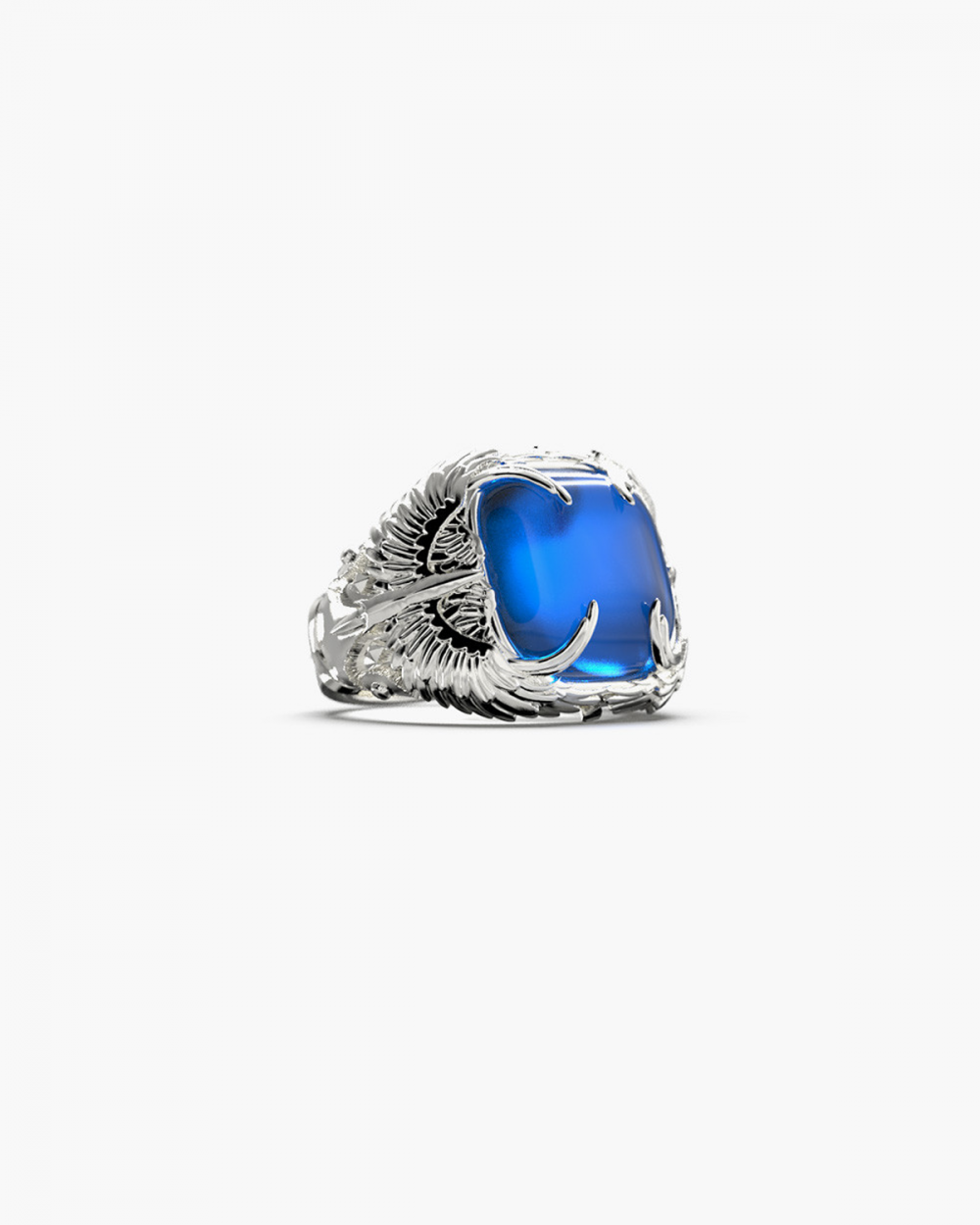 MYNOVE25 WINGS RING WITH STONE NOVE25