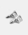 gemelli head bulldog inglese argento lucido