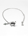 origami cat loyalty necklace polished rhodium plated