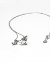 origami cat patience necklace polished rhodium plated