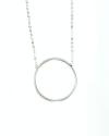 collana con cerchio grande argento lucido