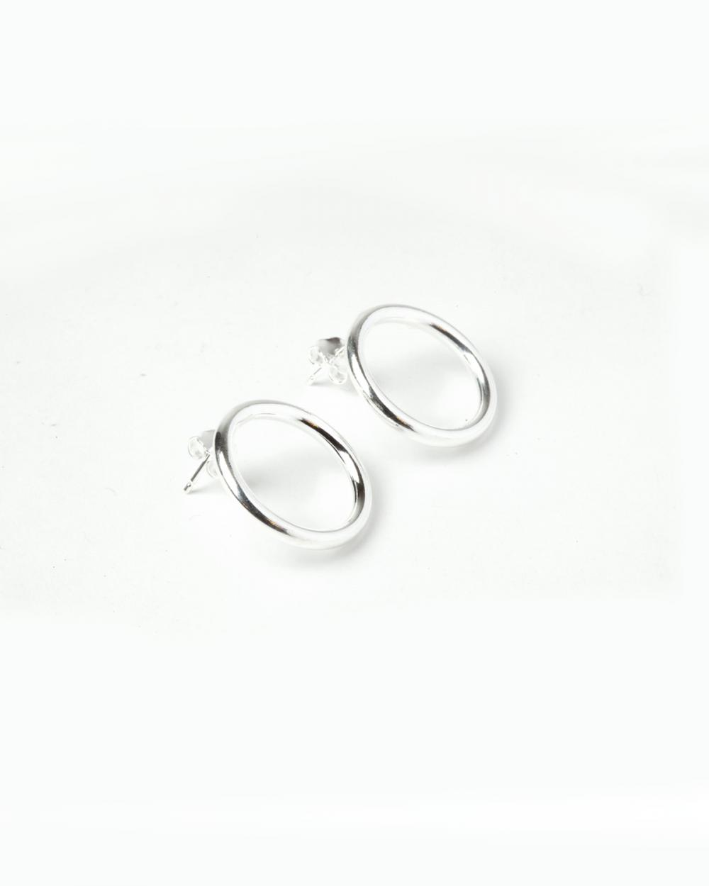 Earrings ORECCHINI COPPIA LOBO CERCHIO / ARGENTO LUCIDO NOVE25