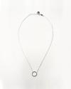 collana con cerchio piccolo argento lucido
