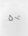 orecchini coppia lobo cerchio e barretta argento lucido