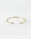 bracciale rigido piercing piccolo coni oro giallo lucido