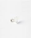 orecchino singolo piastra sagoma cuore argento lucido