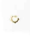 yellow gold pentagon double plate earrings