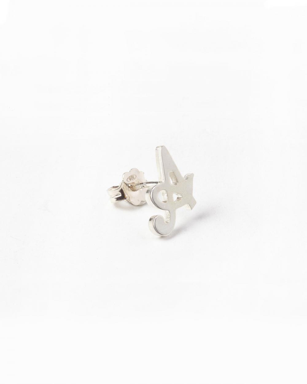 Earrings SMALL ITALICS LETTER SINGLE EARRING NOVE25