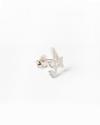 small cursive letter single earring