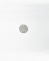 pendente piastra lettera traforata argento lucido