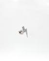 cubic zirconia thunderbolt single earring