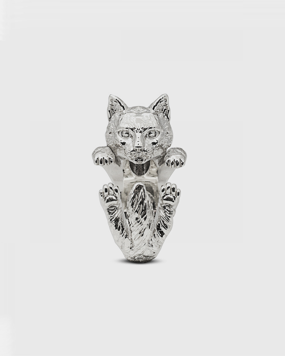 Cat Fever NORWEGIAN FOREST HUG RING / POLISHED SILVER NOVE25