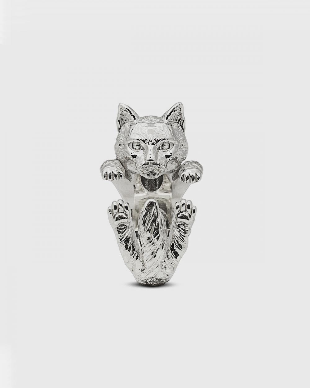 Cat Fever NORWEGIAN FOREST HUG RING / POLISHED SILVER NOVE25