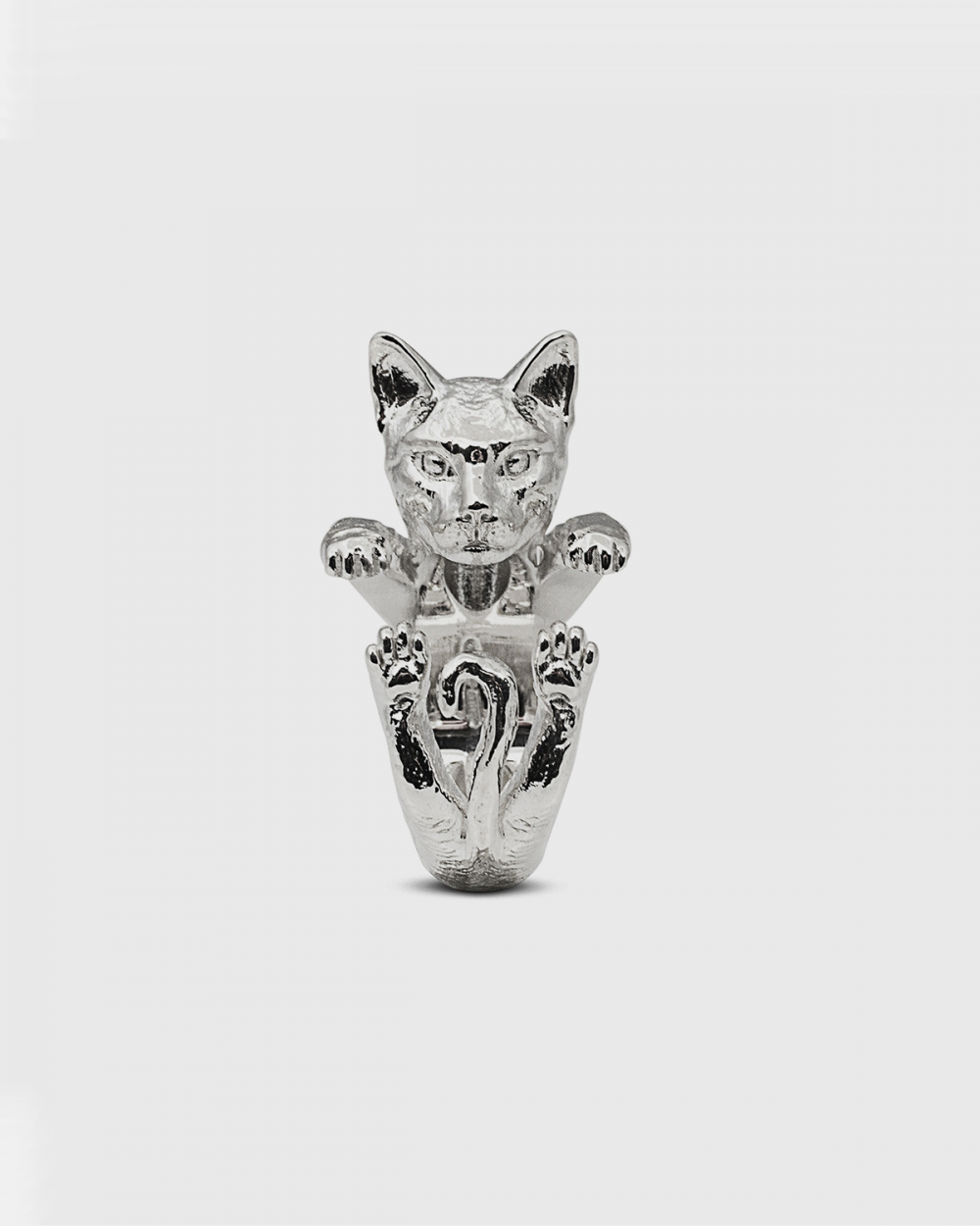 Cat Fever BENGAL HUG RING / POLISHED SILVER NOVE25