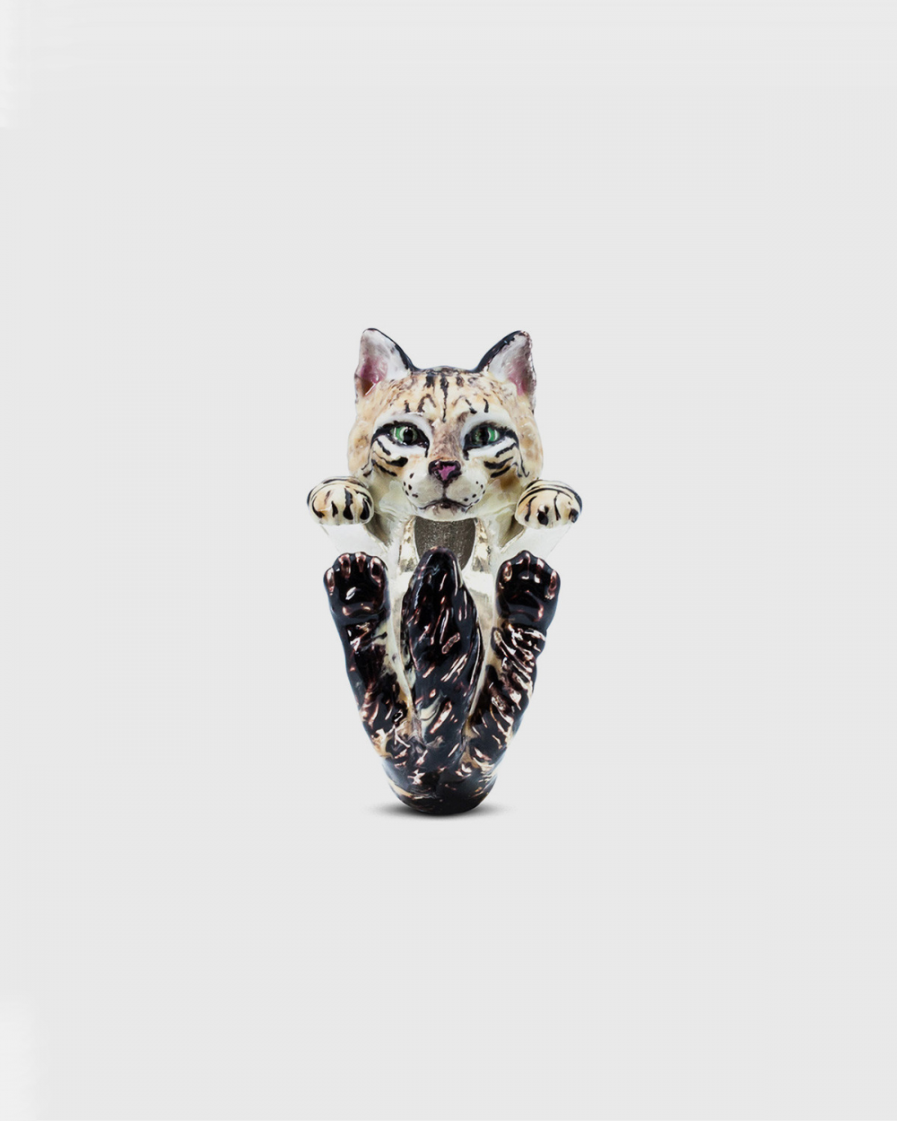 Cat Fever NORWEGIAN FOREST HUG RING / ENAMELLED NOVE25