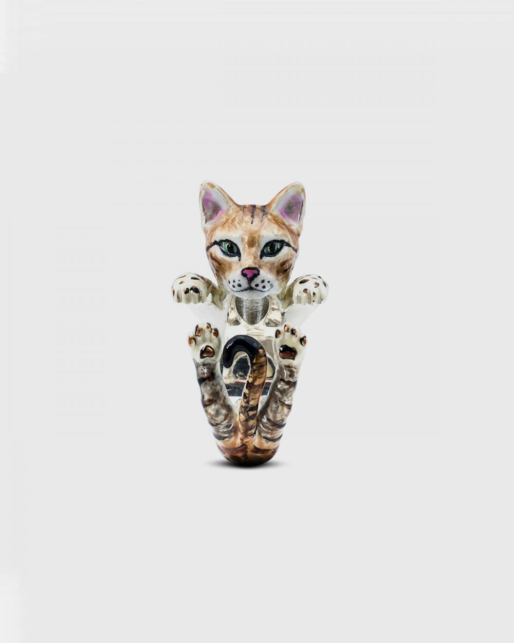 Cat Fever BENGAL HUG RING / ENAMELLED NOVE25