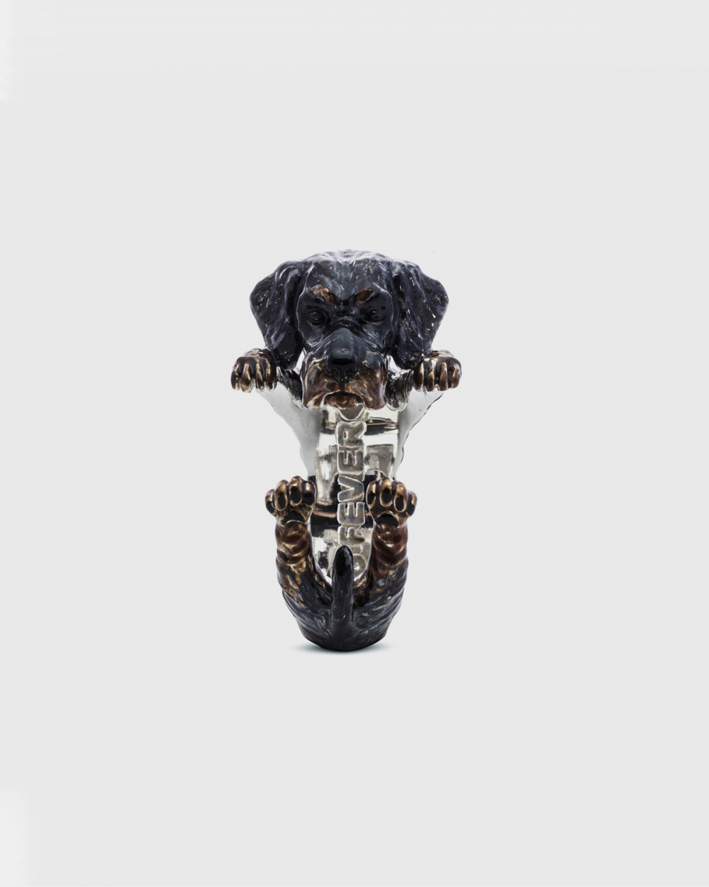 Rings DACHSHUND WIRE-HAIRED HUG RING / ENAMELLED NOVE25