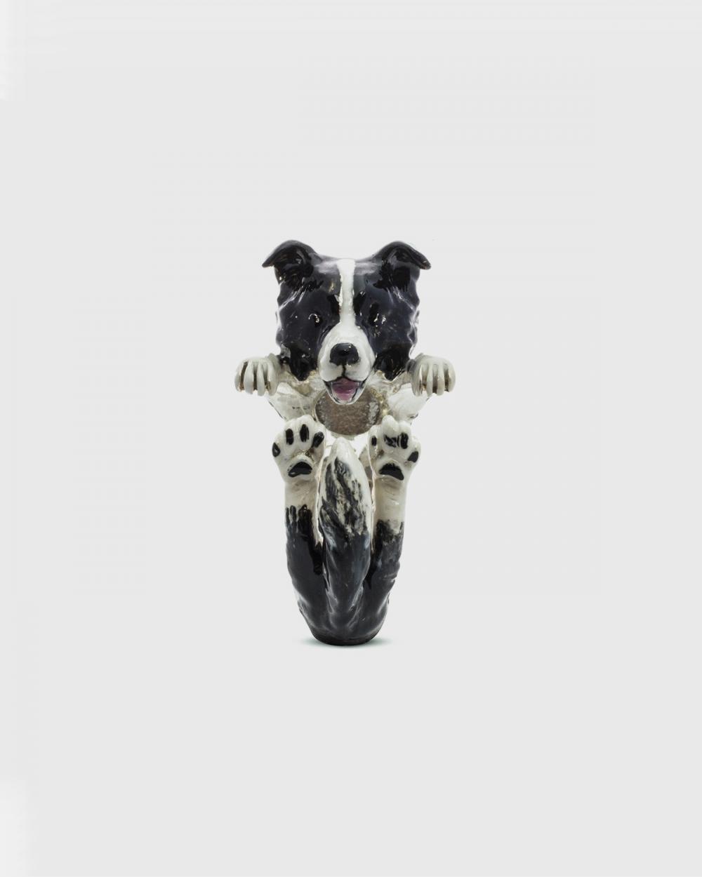 Dog Fever BORDER COLLIE HUG RING / ENAMELLED NOVE25