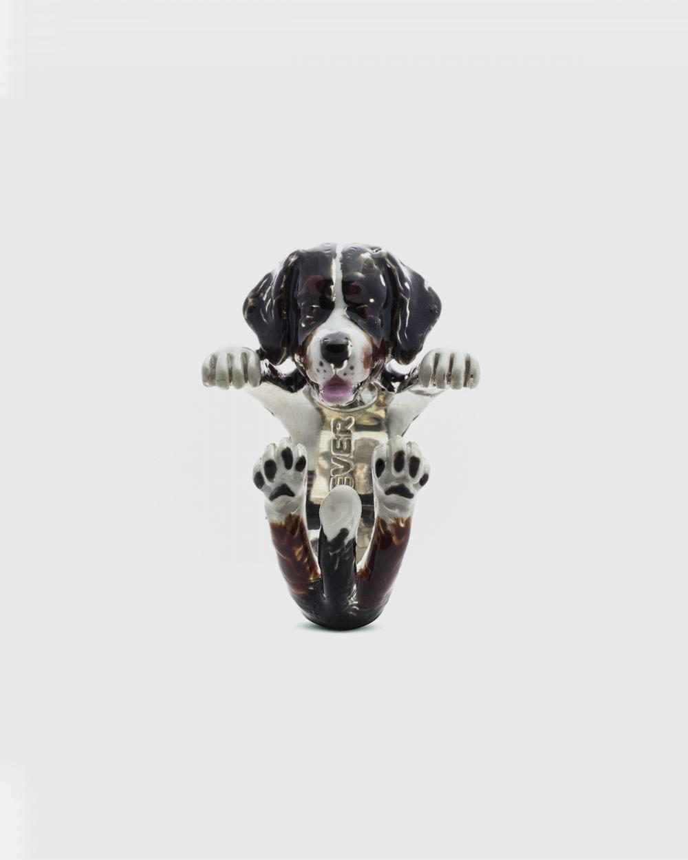 Rings BERNESE MOUNTAIN DOG HUG RING / ENAMELLED NOVE25