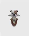 englisch bulldogge umarmung ring emailliert