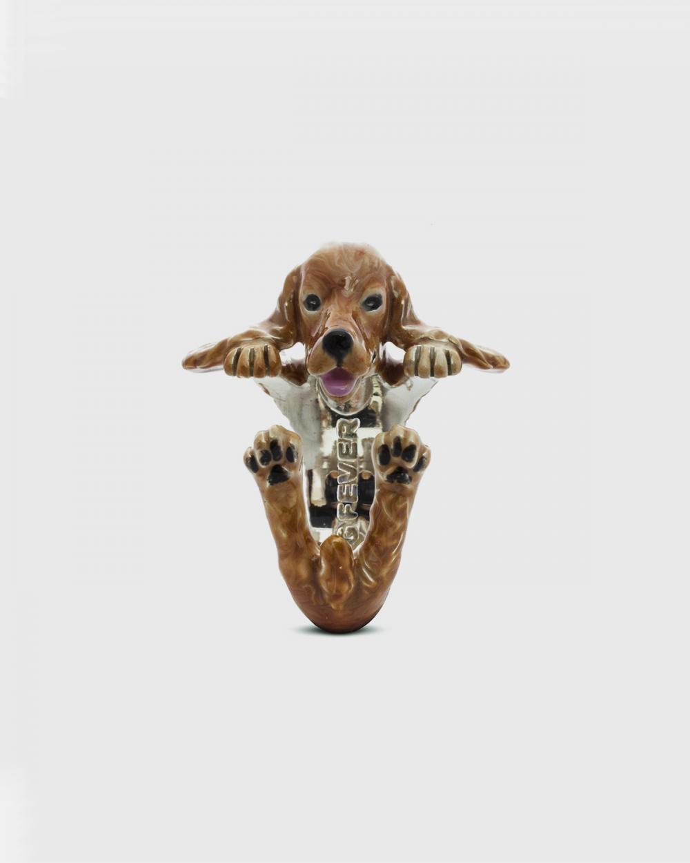 Dog Fever ENGLISH COCKER SPANIEL HUG RING / ENAMELLED NOVE25