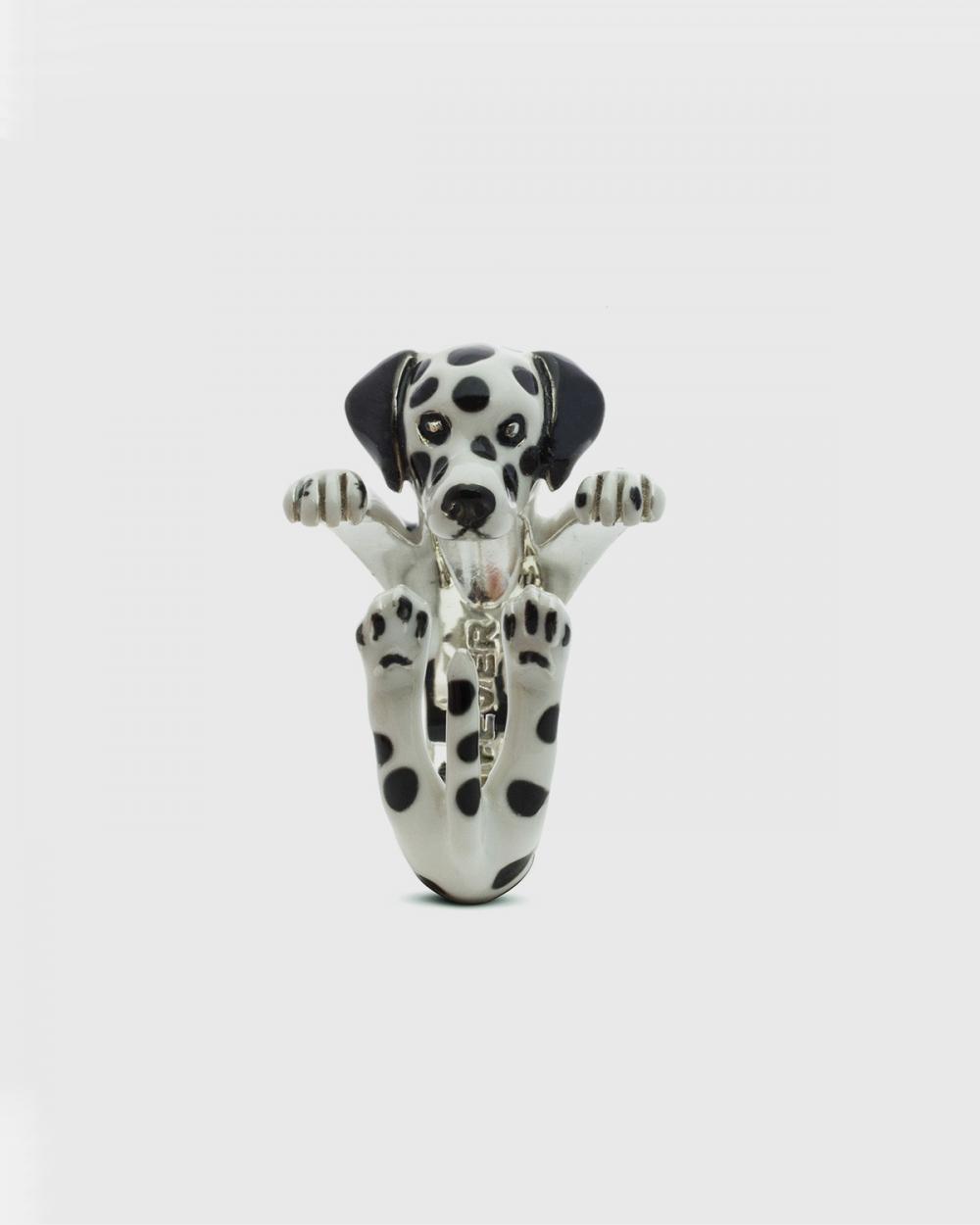 Dog Fever DALMATIAN HUG RING / ENAMELLED NOVE25