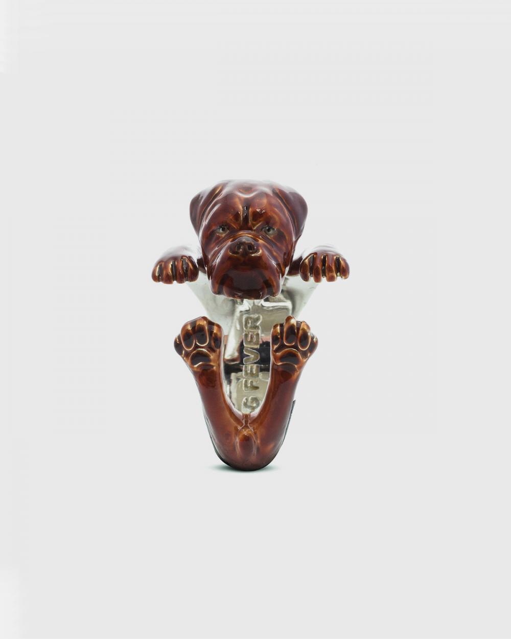 Dog Fever DOGUE DE BORDEAUX HUG RING / ENAMELLED NOVE25