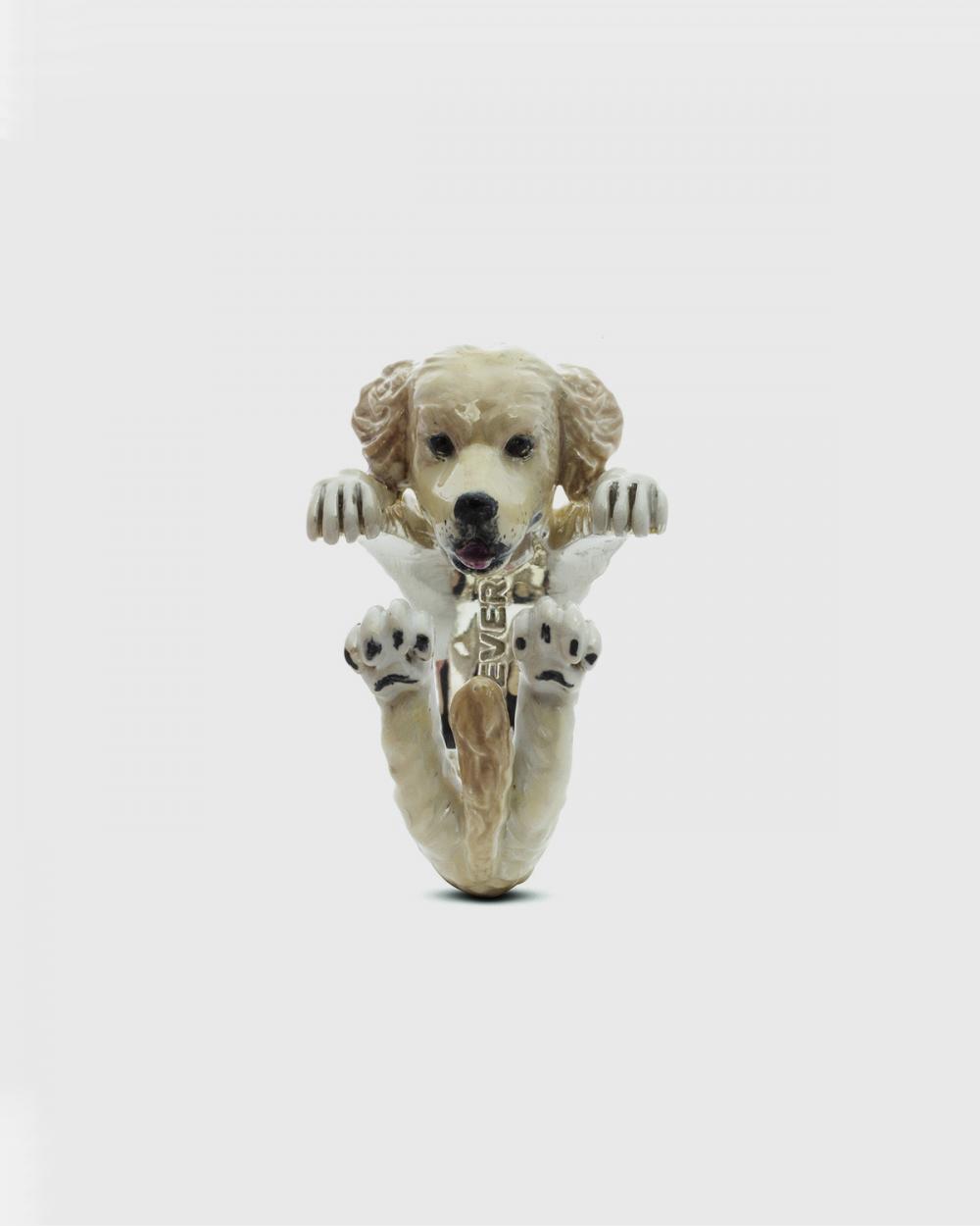 Rings GOLDEN RETRIEVER HUG RING / ENAMELLED NOVE25