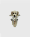 anello hug golden retriever smalto