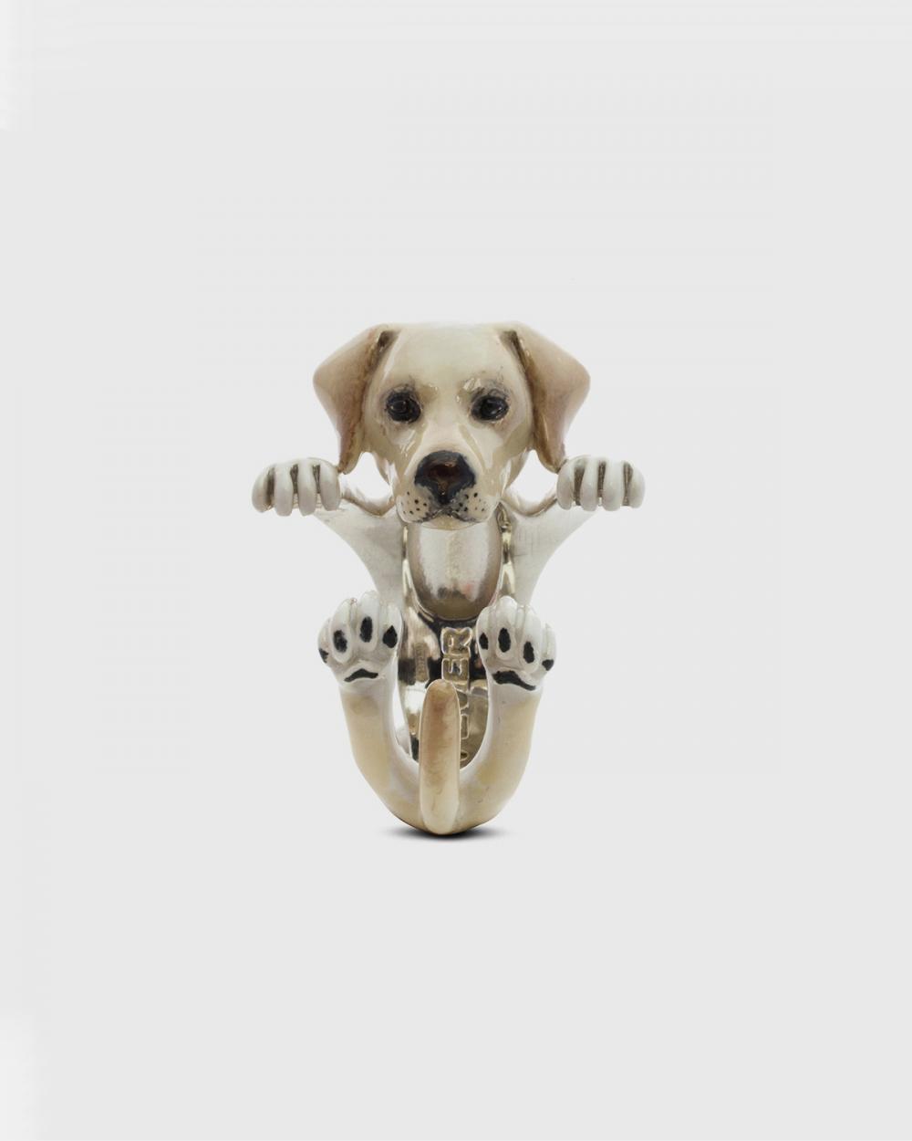 Dog Fever LABRADOR RETRIEVER HUG RING / ENAMELLED NOVE25