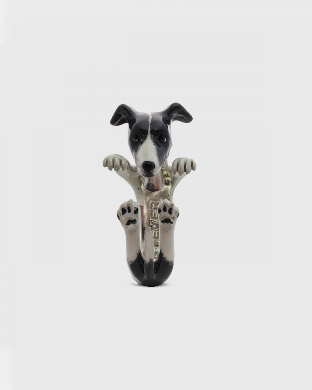 Dog Fever WHIPPET HUG RING / ENAMELLED NOVE25