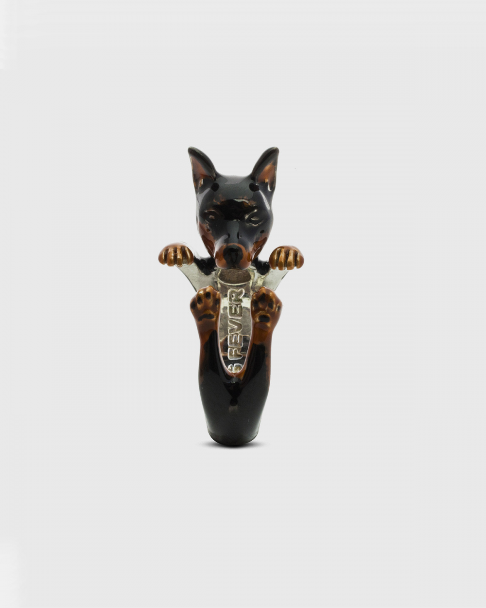 Rings PINSCHER HUG RING / ENAMELLED NOVE25