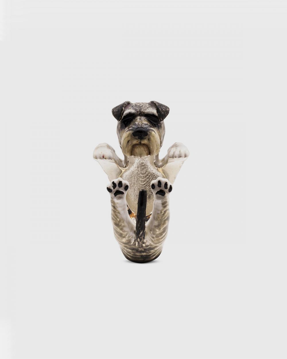 Dog Fever SCHNAUZER FINE RING / ENAMELLED NOVE25
