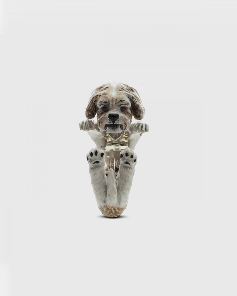 Dog Fever SHITZU HUG RING / ENAMELLED NOVE25