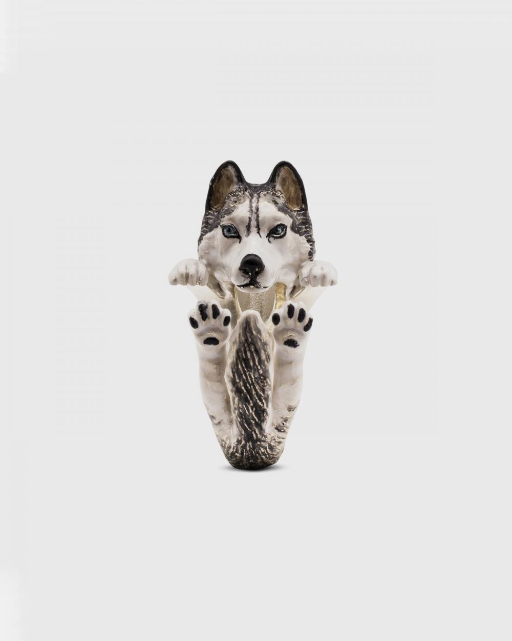 Dog Fever SIBERIAN HUSKY FINE RING / ENAMELLED NOVE25